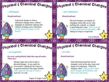 Chemical and Physical Changes Causation Cards
