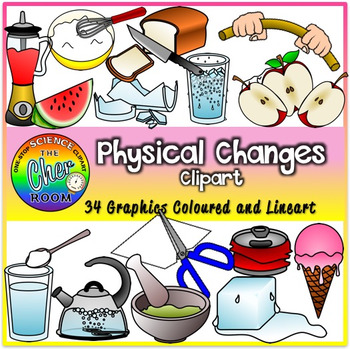 Chemical and Physical Changes Clipart by The Cher Room | TpT