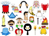 Chemical and Physical Change Clip Art Collection