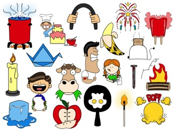 Chemical and Physical Change Clip Art Collection by ...
