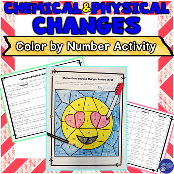 Chemical and Physical Changes Color by Number Review Activity