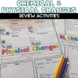 Chemical and Physical Changes Doodle Sketch Note Review Activity