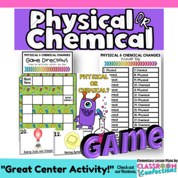 Physical and Chemical Changes Game: A Physical Science Activity