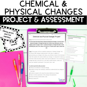 Chemical and Physical Changes Project Based Assessment