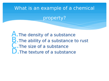 Chemical and Physical Changes (Review)