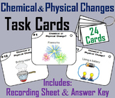 Chemical and Physical Changes Task Cards (Properties of Matter Activity)