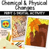 Chemical and Physical Changes Thanksgiving EDITABLE Color