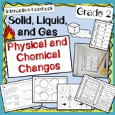 Chemical and Physical Changes of Matter - 2nd Grade -  INTERACTIVE NOTEBOOK