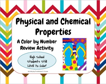 Chemical and Physical Properties Color by Number