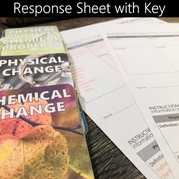 Chemical and Physical Properties and Changes Card Sort Activity