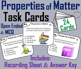 Chemical and Physical Properties of Matter Task Cards Activity