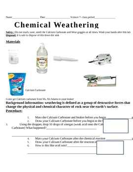 Chemical and Physical Weathering Lab