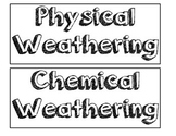 Chemical and Physical Weathering Sort