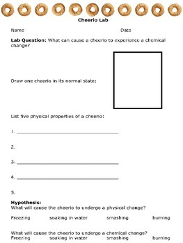 Chemical and physical reactions lab activity sort