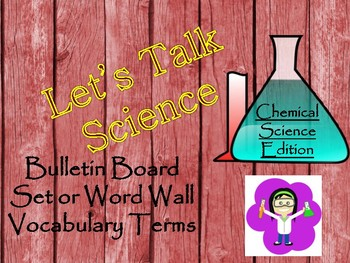 Chemical or Physical Science Word Wall/Bulletin Board Display