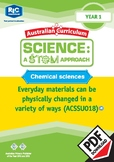 Chemical sciences including STEM project – Year 1