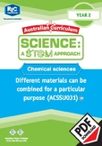Chemical sciences including STEM project – Year 2