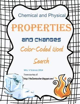 Chemical vs. Physical: Color-Coded Word Search