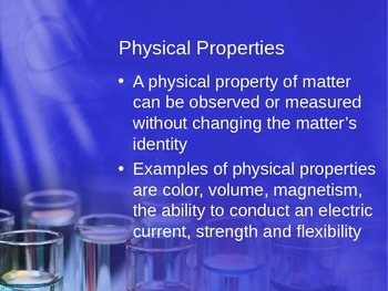 Chemical vs. Physical Properties and Changes
