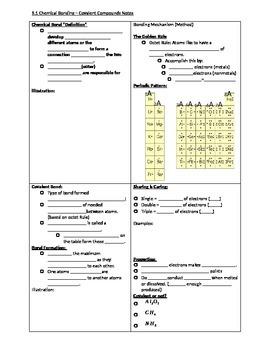 Chemical/Covalent Bonding Handout