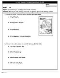 Chemistry 11 Quiz - Mole Conversions Level 1
