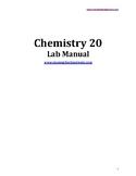 Chemistry 20 Lab Workbook (Teacher Version)