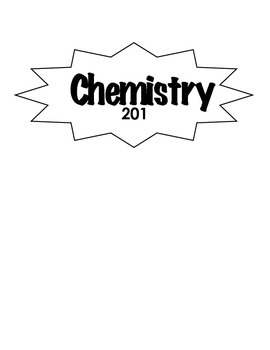 Chemistry 201 Booklet