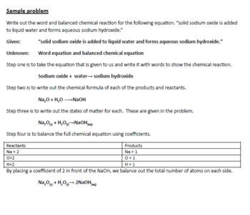 Chemistry 2018 Workbook