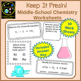 Basic Chemistry Worksheets: Elements, Compounds, Balancing