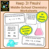 Basic Chemistry Worksheets: Elements, Compounds, Balancing