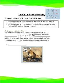 Chemistry 30 - Electrochemistry Unit