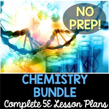 Chemistry 5E Lesson Plans Bundle - Complete Lesson Plans