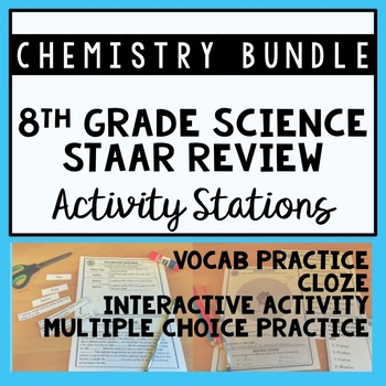 Chemistry 8th grade science staar review stations activity bundle urtaz Images
