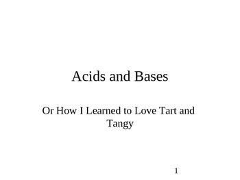 Chemistry - Acids & Bases PowerPoint