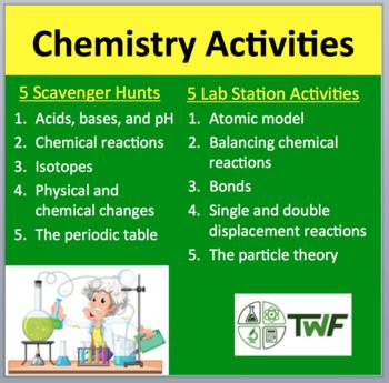 Chemistry Activities - My 10 Most Popular Lab Stations & Digital Scavenger Hunts