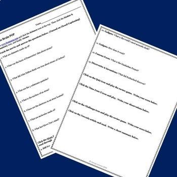 Chemistry Bundle! Activities using BrainPOP