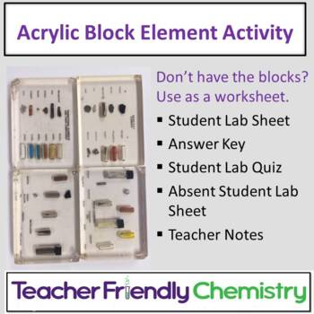 Chemistry Activity: Acrylic Block Element