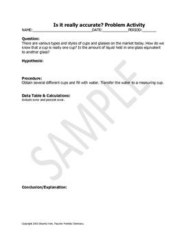 Chemistry Activity: Beaker Flask Accuracy