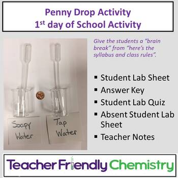 Chemistry Activity: Penny Drop Soapy vs Tap Water