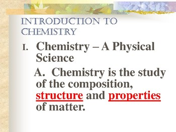 Chemistry - An Introduction PowerPoint