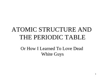 Chemistry - Atomic Structure PowerPoint Presentation