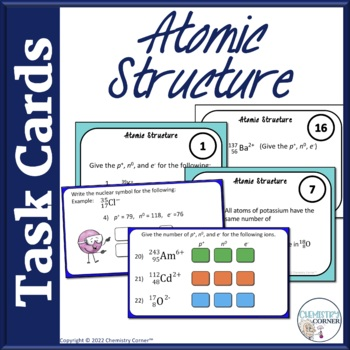 Chemistry: Atomic Structure Task Cards