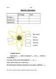 Chemistry - Atomic Structure Worksheet