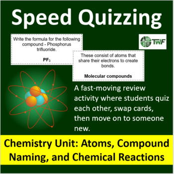 Chemistry atoms teaching resources teachers pay teachers chemistry atoms compound naming chemical reactions speed quizzing fandeluxe Gallery