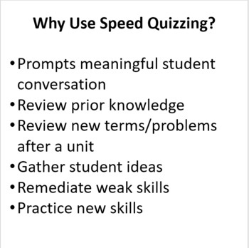 Chemistry: Atoms, Compound Naming, & Chemical Reactions - Speed Quizzing
