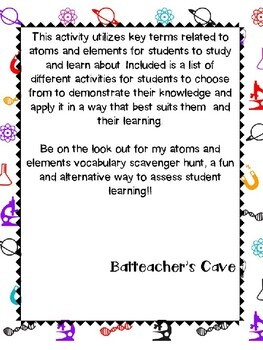 Chemistry - Atoms and Elements Vocabulary
