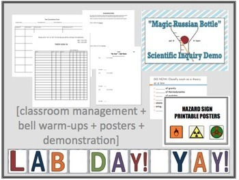 Chemistry: Back to School BUNDLE [Powerpoints, activities, posters, Bell Work]
