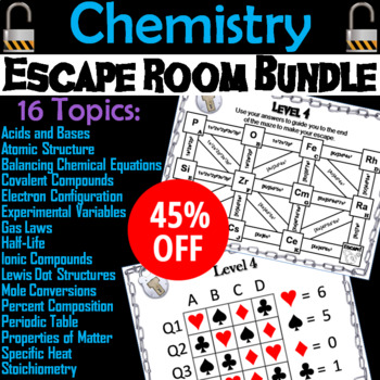 Chemistry Escape Room Science Electron Configuration Ionic