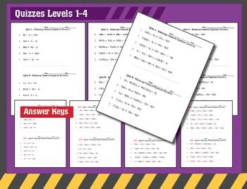 Chemistry: Balancing Chemical Equations Worksheets