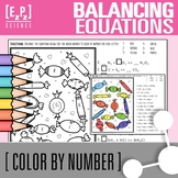 Balancing Equations-  Chemistry Color by Number Candy